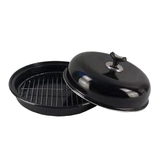 Outdoor Magic - Barbie Hot Platter BLACK Top with Black - Non Stick Base