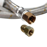 "GasRite 3 meters Braided Stainless Steel POL LPG Hose & Regulator with 1/4"" M & 3/8"" SAE FF Fittings"