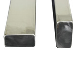 75cm Upright Pillars Stainless Steel - (Set of 2)