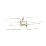 Stainless Steel Double Chicken Rotisserie BBQ Prongs/Forks - 28mm (Round) - SSDC-001A