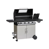 BeefEater Discovery 1100E 4 Burner BBQ with Trolley and Side Burner plus Bonus Cover - BD47842