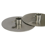 Gyro Yeros Plates (Set of 2) 3mm Stainless Steel to Suit 22mm Round Skewer, 15cm Diameter Round- GP-3076
