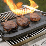 Man Law Cast Iron Reversible Griddle - Flat on one side and ribbed on the reverse (MAN-CG1)