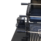 Australian Made 3 Tier Chain Driven Rotisserie Charcoal Grill BBQ with Hood