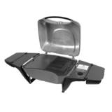 Everdure Gas e2go Open Grill Portable BBQ - Graphite with Trolley Stand