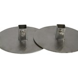 Gyro Yeros Plates (Set of 2) 3mm Thick Stainless Steel with Square fitting to suit skewer up to 19.5mm x 19.5mm -  GP-3077
