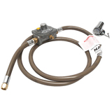 Bromic Universal Natural Gas Conversion Kit with Floor Socket 3/8 SAE Female Flare, 1500mm Hose 250Mj/hr Governor and 200mm Hose - NGCK3