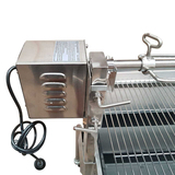 Stainless Steel Charcoal Rotisserie BBQ (1.3mtr) - BIG SPIT - 40kgs meat capacity Motor!! - SSB-3060