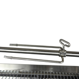 S/S Long 2 Prong Forks for Rotisserie BBQ Spit  (Set of 2) suit 22mm Round Skewer Rod - SSF-3082