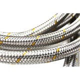 "GasRite 3 meter stainless steel braided LPG gas hose with POL connector & 1/4"" BSP FC Fitting"