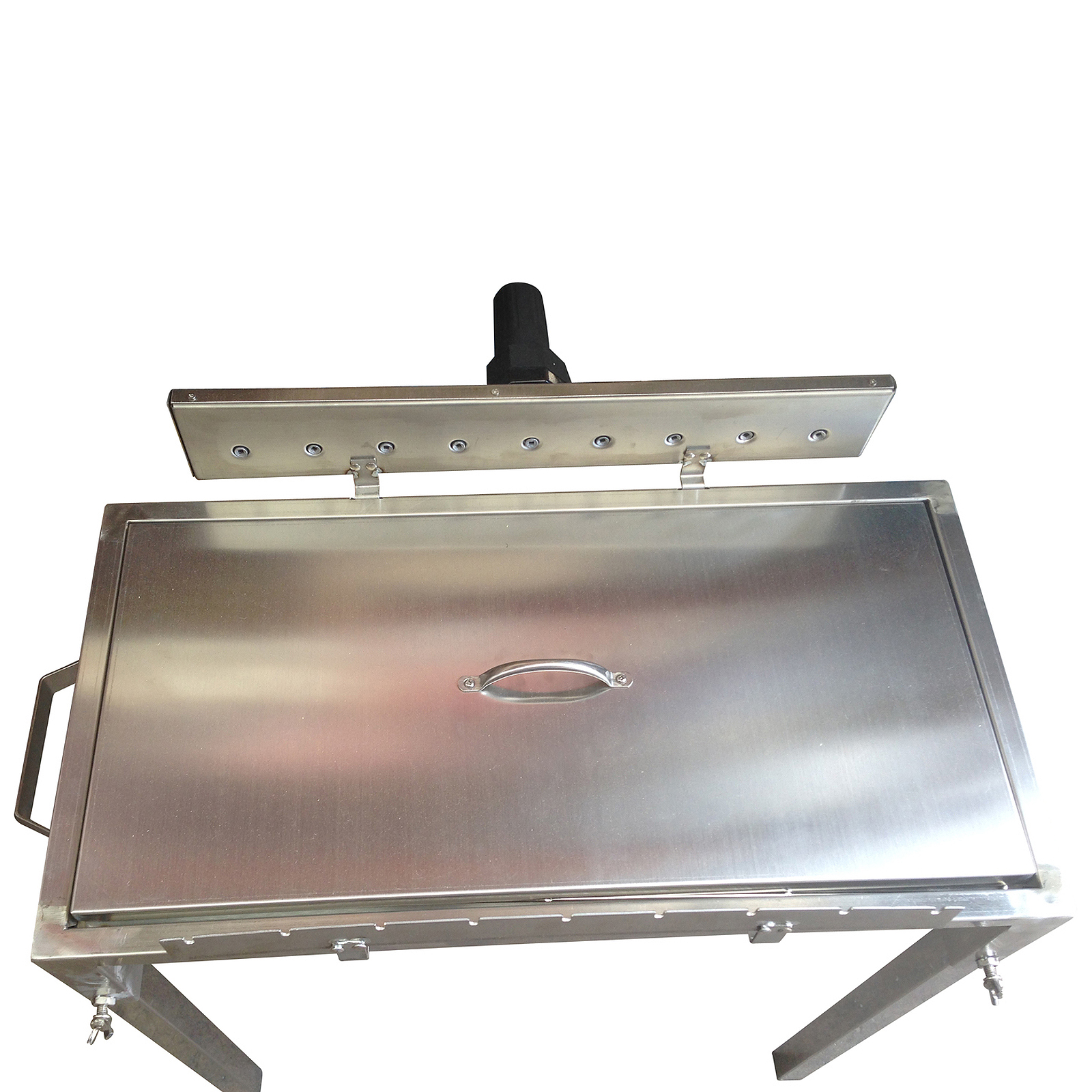 New stainless steel rotisserie skewer charcoal bbq with