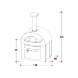 Alfa Wood Fired Pizza Oven - Forno Allegro - Yellow