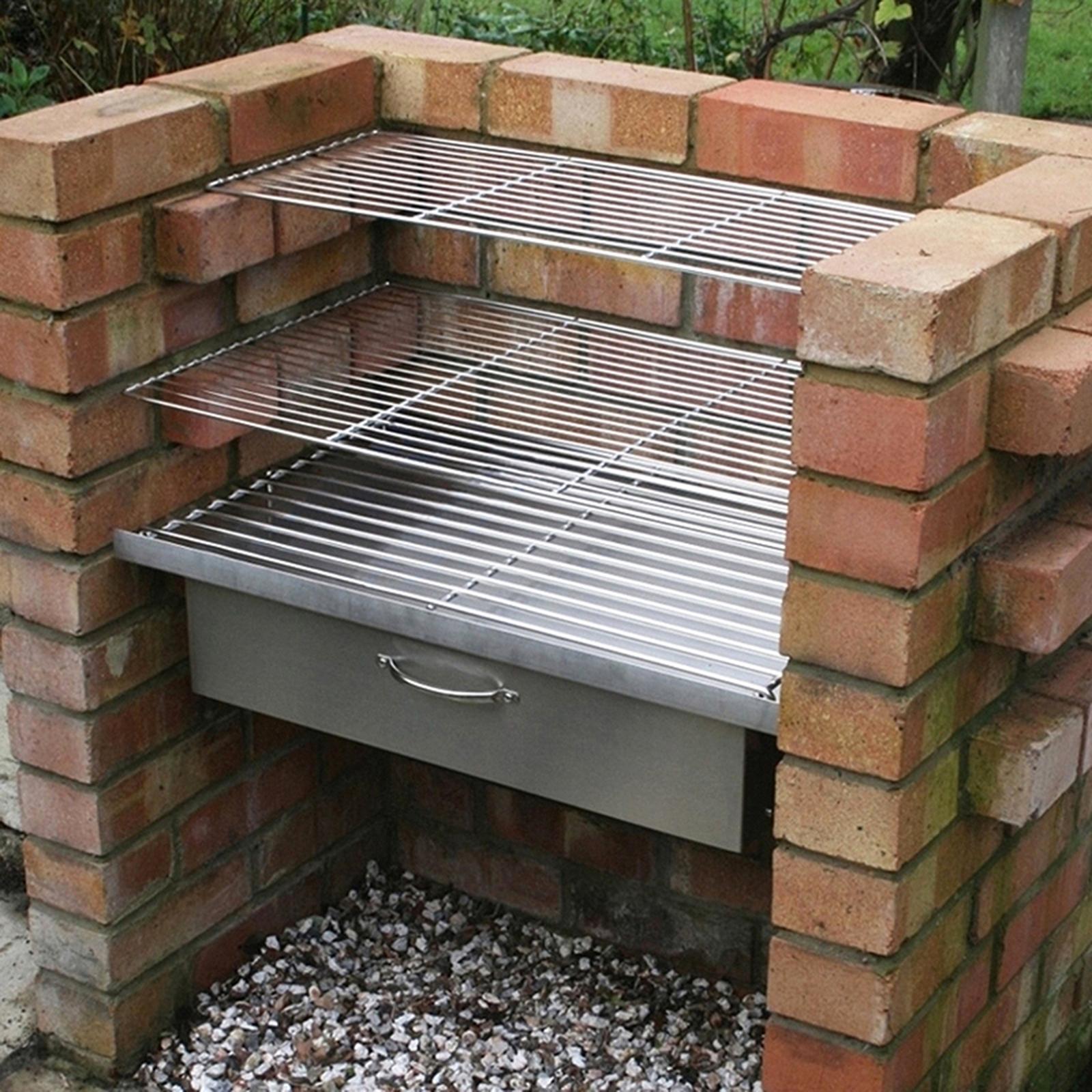 DIY Brick BBQ System - Complete Set, Grills, Warming Draw ...