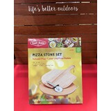 BeefEater Pizza Stone Set - Complete with Paddle, Stone, and Pizza Cutter - BB94935