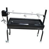 Black Barrel Rotisserie Spit BBQ