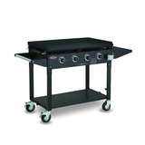 BeefEater Clubman 4 Burner Gas BBQ, Quartz Start, Folding Legs With Wheels