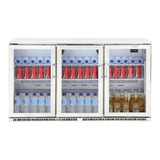 Beefeater 3 Door Bar Fridge with Insulated Heated Doors - BS28310