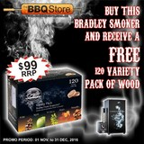 Bradley Original 4 Rack Black Smoker 240 Volt - BS611EU-PROMO