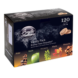 Bradley 120 Variety Pack (24 ea Apple, Alder, Mesquite, Hickory, and Maple Bisquettes) - BT5FV120