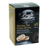 Bradley Whiskey Oak Bisquettes 48 Pack suit BBQ Gas, Electric or Charcoal Smokers