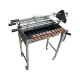 2017 Height Adjustable Stainless Steel BBQ Spit Rotisserie
