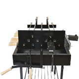 Cyprus Grill Charcoal BBQ Heavy Duty 5 Spits Rotisserie (Product of Cyprus)