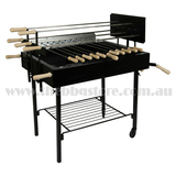 Cyprus Grill Heavy Duty 5 Spits Rotisserie Souvla Package Deal with 2 x 20kg Variable Speed Motor
