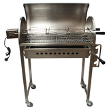 S/S Chicken BBQ Rotisserie Charcoal Spit w/ 30kg Motor - cook up to 6 chickens at once - CRB-3064