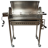 New Stainless Steel Chicken Rotisserie BBQ with Height Adjustable Charcoal Tray & Small Skewers