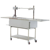 The Entertainer Charcoal Barbecue and Spit Rotisserie - S/S Material / 30 kgs motor - EB-W01