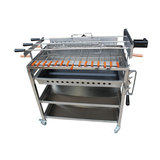3 In line Extra Large Cyprus Grill BBQ with 2 x Variable Speed motors