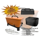 Everdure E-Churrasco Dual Fuel - Gas & Charcoal BBQ (Orange) Package  - ECHULPC14O-PK