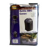 Outdoor Magic - BBQ Cover - Deluxe Black - Heavy Duty Vinyl 57cm dia Kettle BBQ
