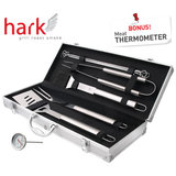 Hark 10 Pce BBQ Tool Set with Bonus Thermometer