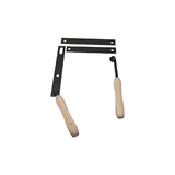 The BBQ Store Wooden Handle - With Lever and Nut Pack (Black)