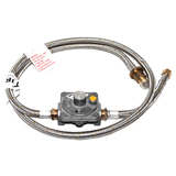 Bromic Universal Natural Gas Conversion Kit Stainless Steel 3/8 SAE Female Flare X 1500mm Hose 250Mj/hr Governor X 200mm Hose - NGCK6