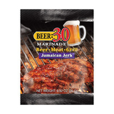 Beer 30 Jamaican Jerk Beer Marinade - 26g Sachet - Made in USA