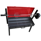 Portable BBQ Rotisserie with Lid