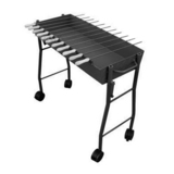 The BBQ Store Charcoal BBQ With 11 Small Skewers and Grill Only - RS-1208A
