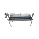 Stainless Steel 304 Grade Charcoal Rotisserie BBQ (1.3mtr) - BIG SPIT - 40kgs meat capacity Motor!! - SSB-3060