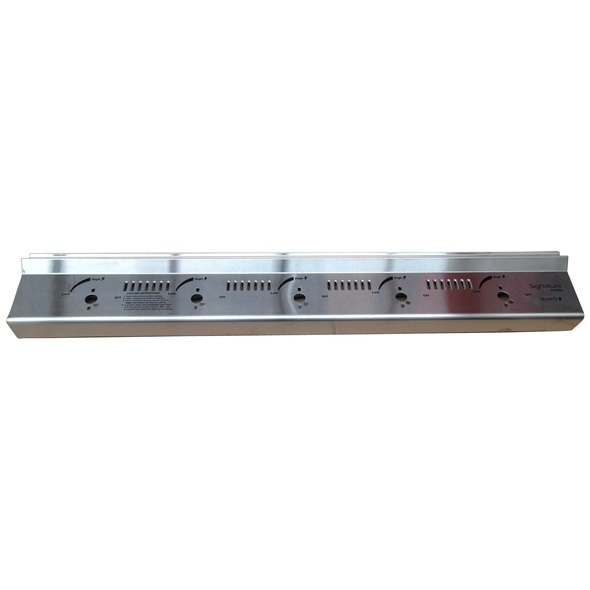 Beefeater 5 Burner Fascia Decal Kit (Signature 3000S) Stainless Steel