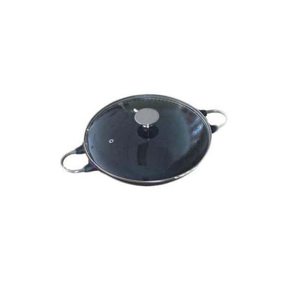 BeefEater Cast Iron Wok Pot with Glass Lid
