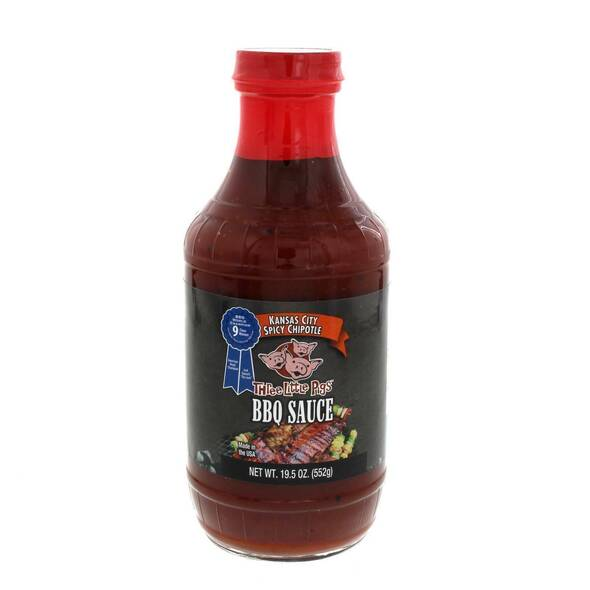 Three Little Pigs Spicy Chipotle BBQ Sauce 19.5oz