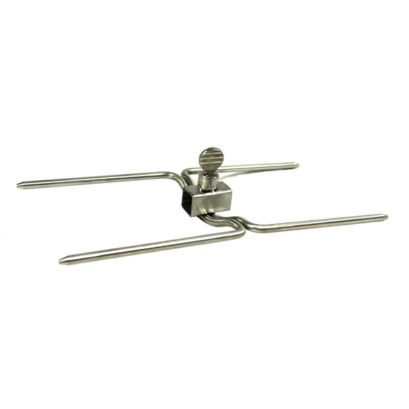 Small Stainless Steel Double Sided Rotisserie BBQ Prongs/Forks - (Square 8mm)