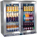 Rhino Alfresco Glass Twin Door Bar Refrigerator With Outdoor IP34 Rating with LOW E Glass
