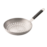 Hark Grill Wok - Stainless Steel with handle suitable for roasting chestnuts - HK0223