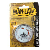 Man Law Stainless Steel Surface Grill Gauge, Measures the grill temp for perfect cooking