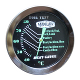 Man Law Meat Gauge Thermometer with Glow Dial - Range 40 to 80 Degrees Celsius