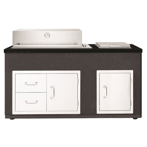 Beefeater Artisan Outdoor Kitchen with Signature ProLine 6 burner built-in barbecue with hood