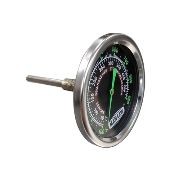 Man Law Grill or Smoker Gauge with Glow in the Dark Dial, Stainless Steel, Glow Pointer, Temp Range 50 - 300deg (MAN-T702BBQ)